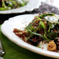 Figgy Fall Salad:  Roasted Fig and Hazelnut Quinoa Salad