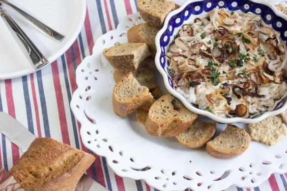 caramelized onion & crispy shallot dip