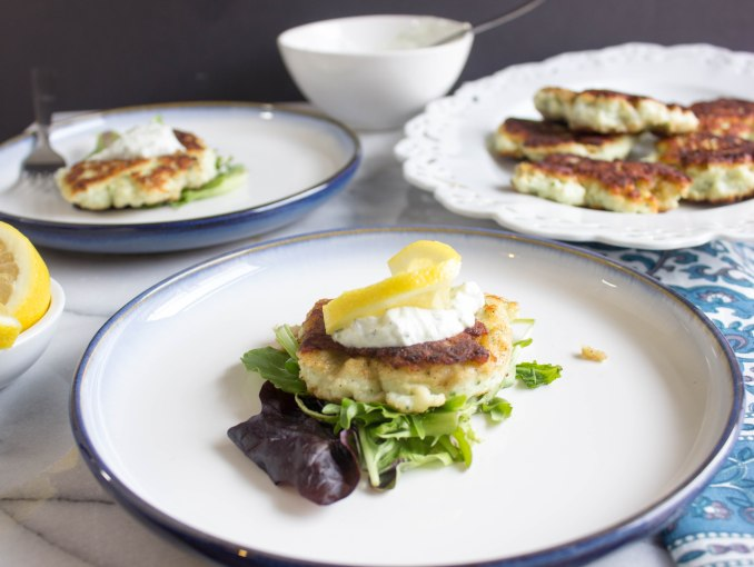Norwegian Fish Cakes with Dill Yogurt