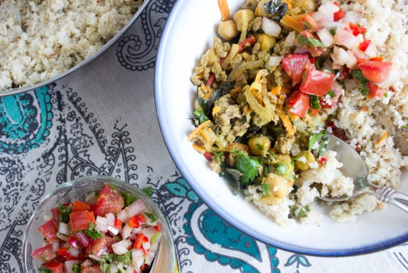 Lamb Biryani Bowl with Tomato-Onion Salad