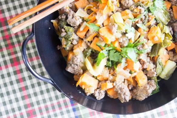 Beef & Sweet Potato Stir Fry