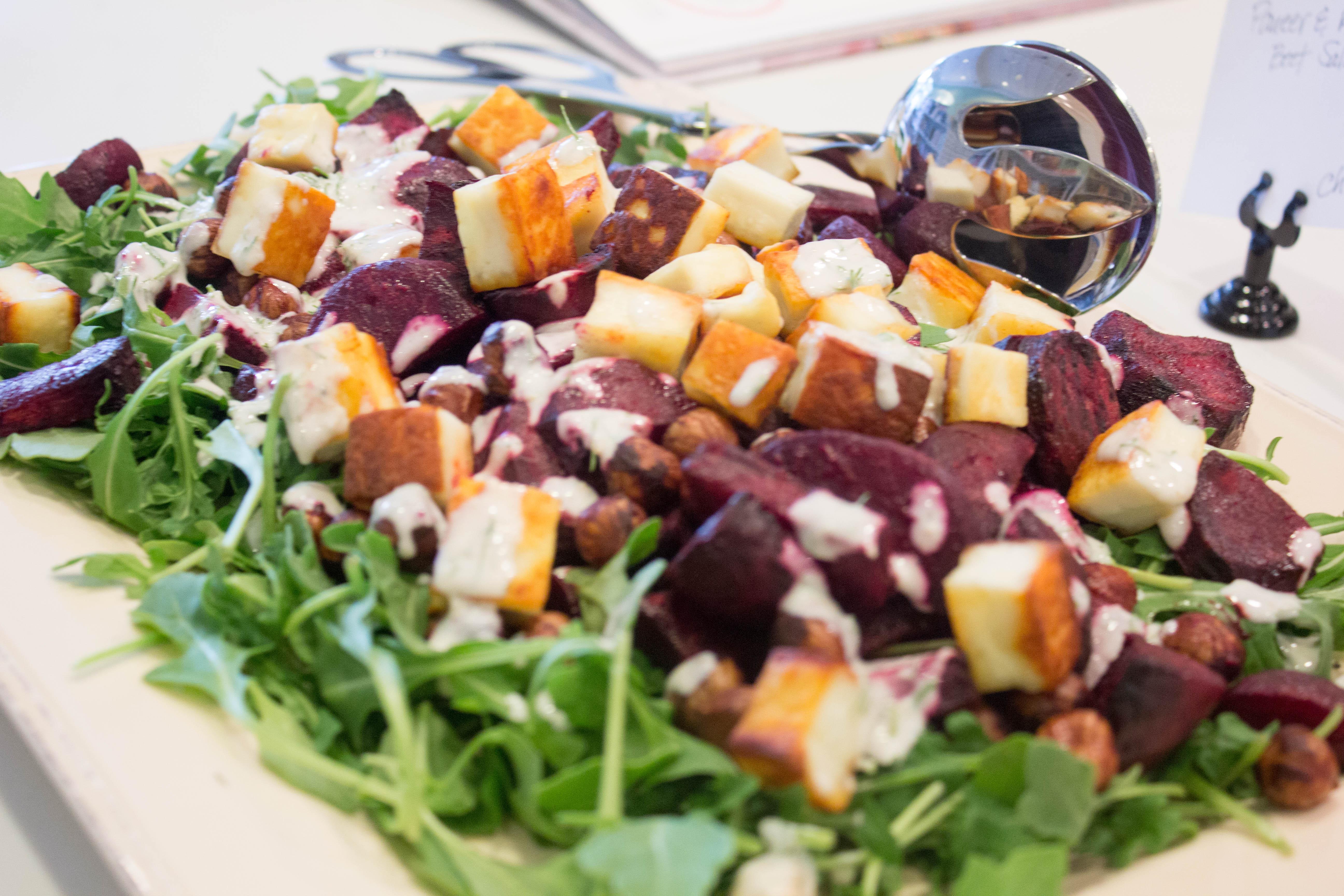 Roasted Beet and Paneer Salad