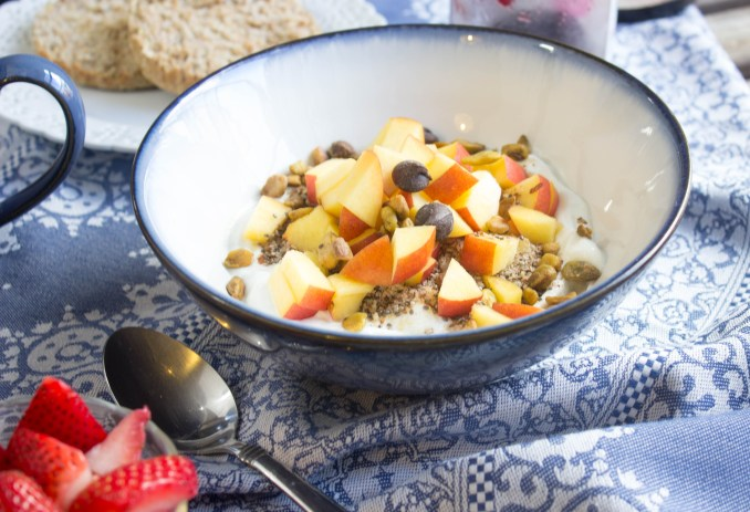 Almond meal breakfast bowl