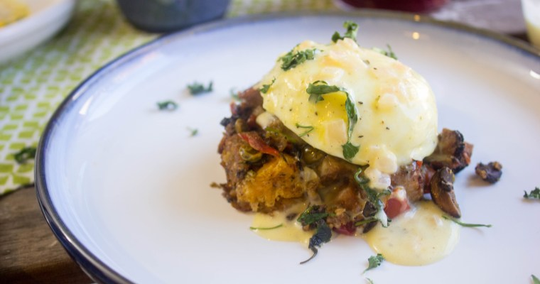 Thanksgiving Benedict with Béarnaise