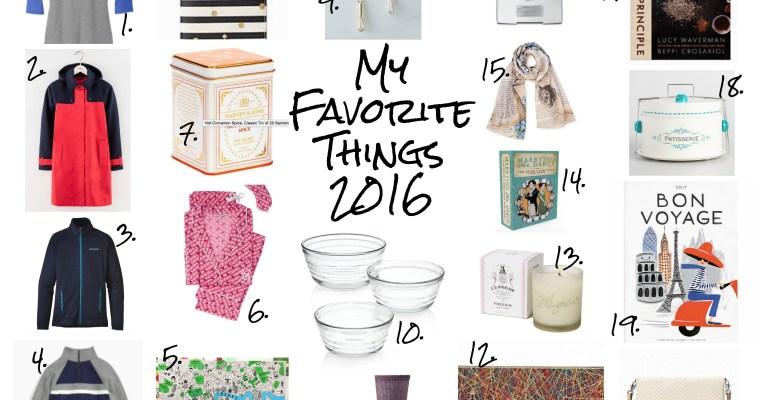 My Favorite Things: 2016