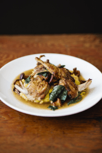 Quail with Polenta by Lindsay Borden