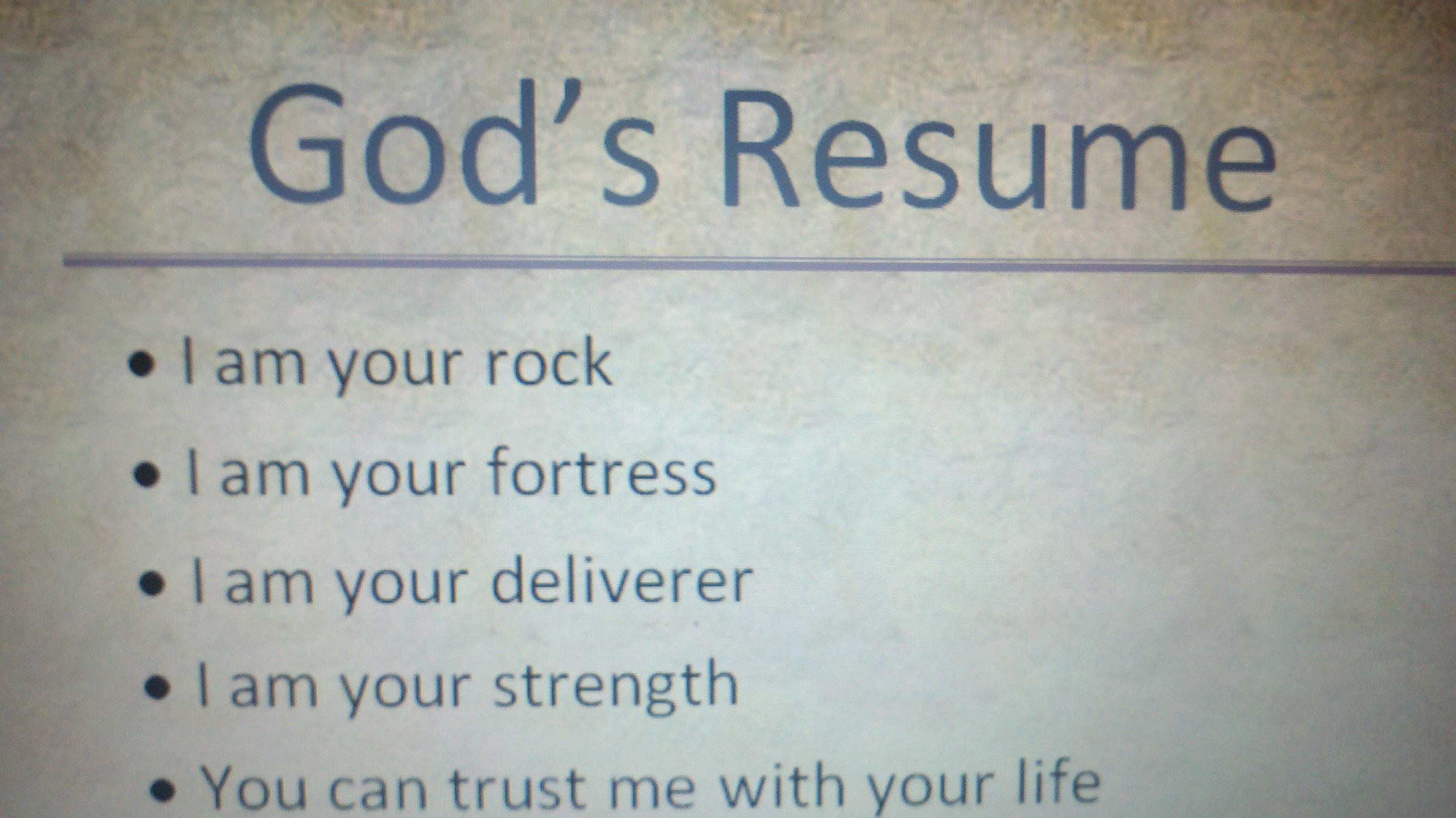 For Gods Resume - A Good Owner Manual Example •