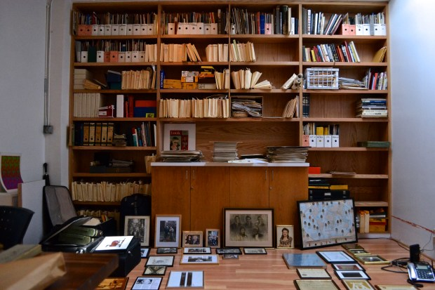 World War II and retired fashion photographer Tony Vaccaro, 92, hasn't had his own professional studio (pictured) since 1973. He is using the space to archive and display his old photos as well as to develop new ones. (Ariana Igneri/The Ink)