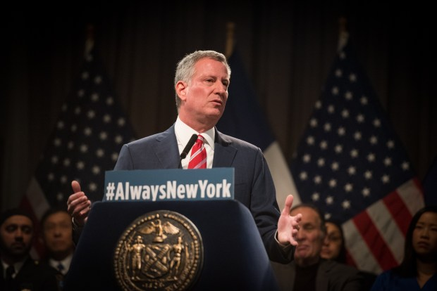 Mayor Bill de Blasio spoke at Copper Union on Monday, November 21. (Mayoral Photo Office/Edwin J. Torres)