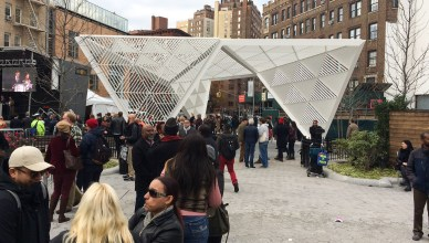 The AIDS Memorial of New York City was formally dedicated to St. Vincent's Triangle Park on Thursday. Photo credit: Katryna Perera.