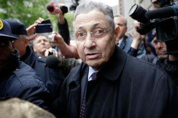 Former Assembly Speaker Sheldon Silver leaves court in New York, Tuesday, May 3, 2016. The former New York Assembly Speaker was sentenced to 12 years in prison Tuesday, capping one of the steepest falls from grace in the state's lineup of crooked politicians for a consummate backroom dealer who wielded power for over two decades. (AP Photo/Seth Wenig)