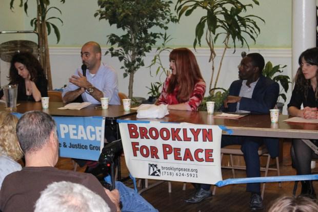 Panelists speak at the forum. (The Ink/Nadeem Shad)