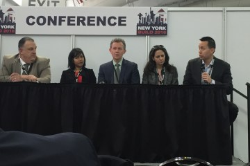 From left: Gary LaBarbera, Paula Carethers, David Quart, Stephanie Cobleigh and James Lee discuss affordable housing.