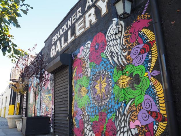 Bruckner Avenue is home to hip art galleries, bars and restaurants.
