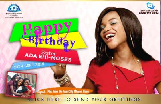 HBD Ada- The InnerCity Mission Goodwill Ambassador.
