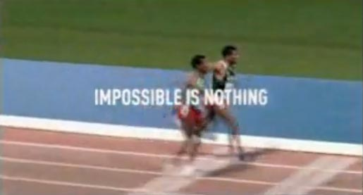 Adidas Impossible is Nothing Haile races himself