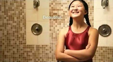 Beautiful girl in Dove Real Beauty Ad