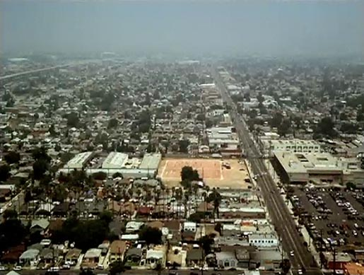 Aerial view at beginning of Nike FCUSA TV ad