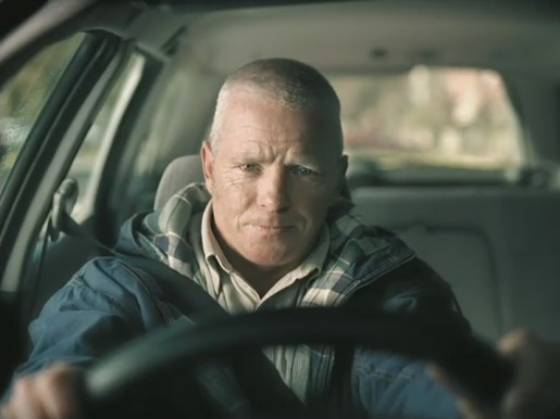 Father drives in Bigpond Rabbits ad