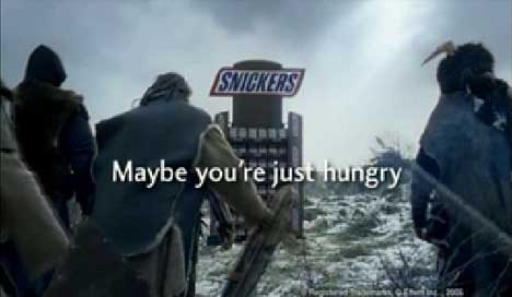 Sixteenth century soldiers head to the Snickers machine