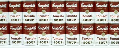 Campbell's Soup in TV ad for Warhol exhibition