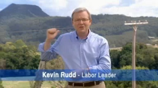 Kevin Rudd Labor Leader in 2007 commercial