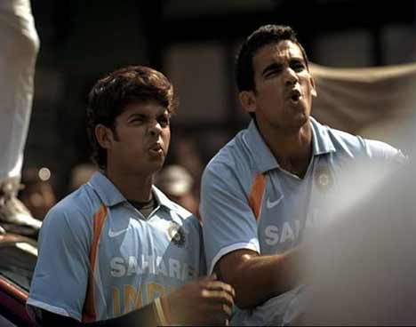 Sreesanth and Zaheer