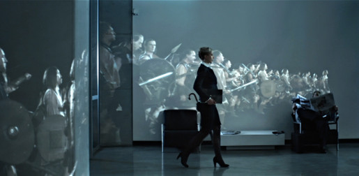 Sony Vaio army in Projections TV ad