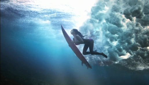 Surfer in National Geographic Channel commercial