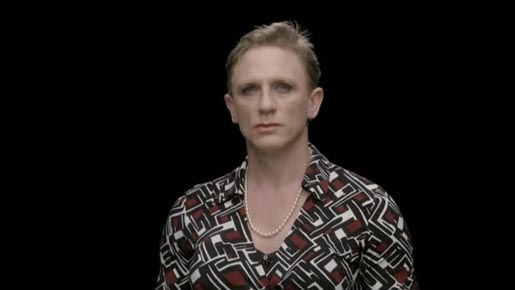 Daniel Craig as James Bond in drag