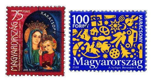 Hungary Christmas Stamps 2009