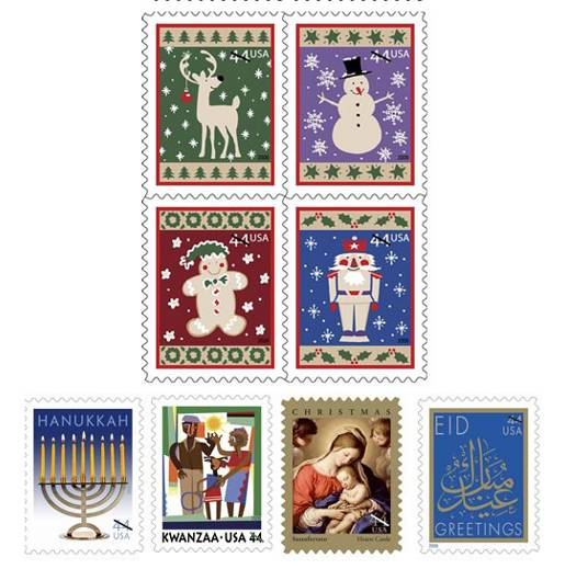 USA Holiday Stamps 2009