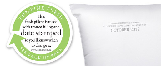 Tontine Fresh Pillow with Date Stamp