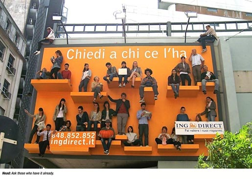 ING Direct Wall ad