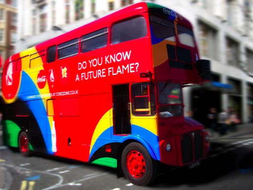 Coca Cola Future Flame bus