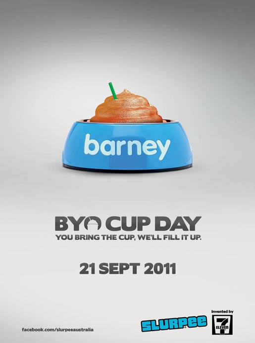 BYO Cup Day Barney