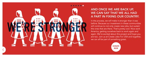 Create Jobs for USA We're Stronger