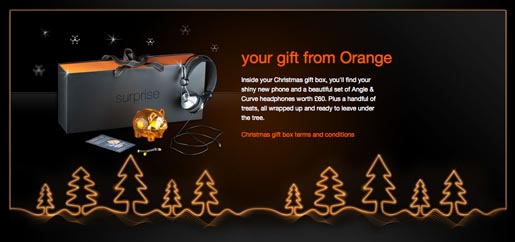 Orange Christmas Box
