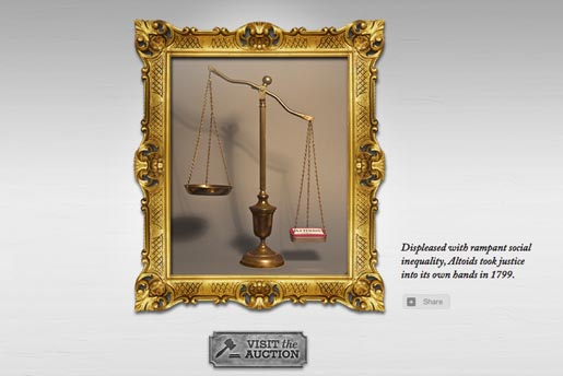 Altoids Scales of Justice in Hall of Curiosity