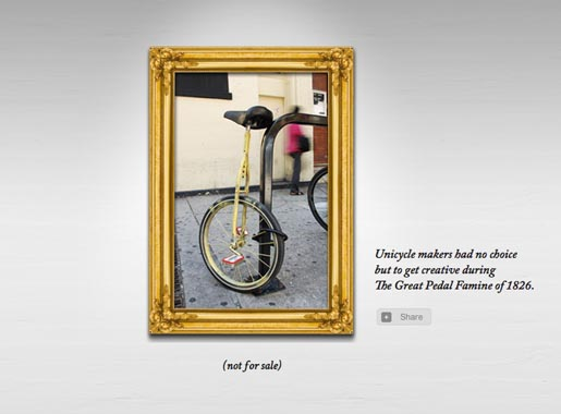 Altoids Unicycle in Hall of Curiosity