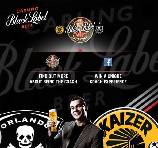 Carling Black Label Be The Coach Facebook ad