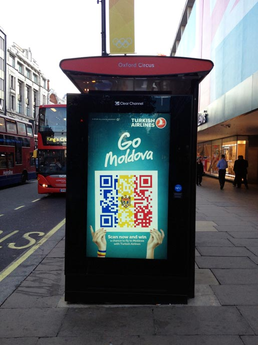 Turkish Airlines QR Flags Bus Shelter
