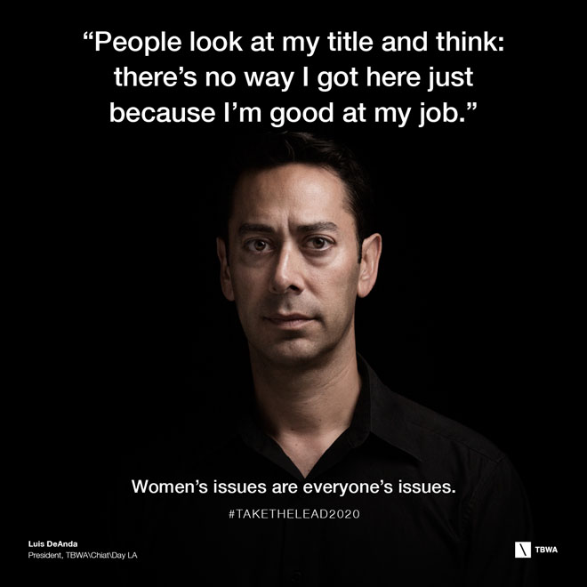 TBWA Take The Lead on Gender Equality in the workplace - Luis Deanda
