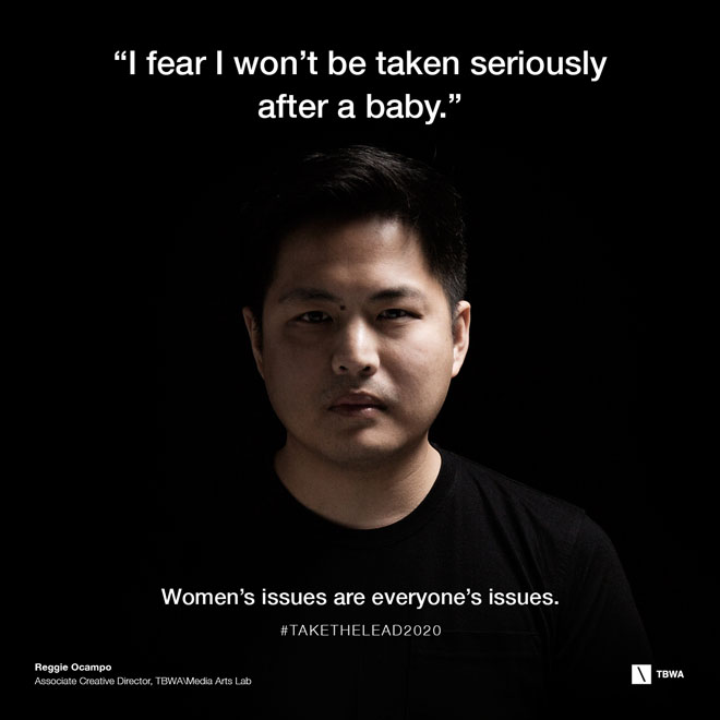 TBWA Take The Lead on Gender Equality in the workplace - Reggie OCampo