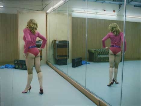 Madonna in Dance Gym with mirror