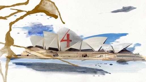 Beyonce Sydney Opera House Water Colours in 4 Around the World video