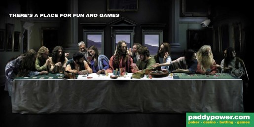 PaddyPower Last Supper image from Ireland