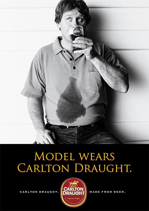 Model Wears Carlton Draught