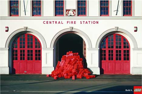 Lego at a fire station