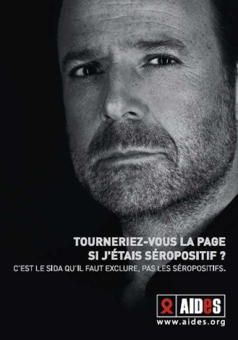 Marc Levy in AIDES print advertisement